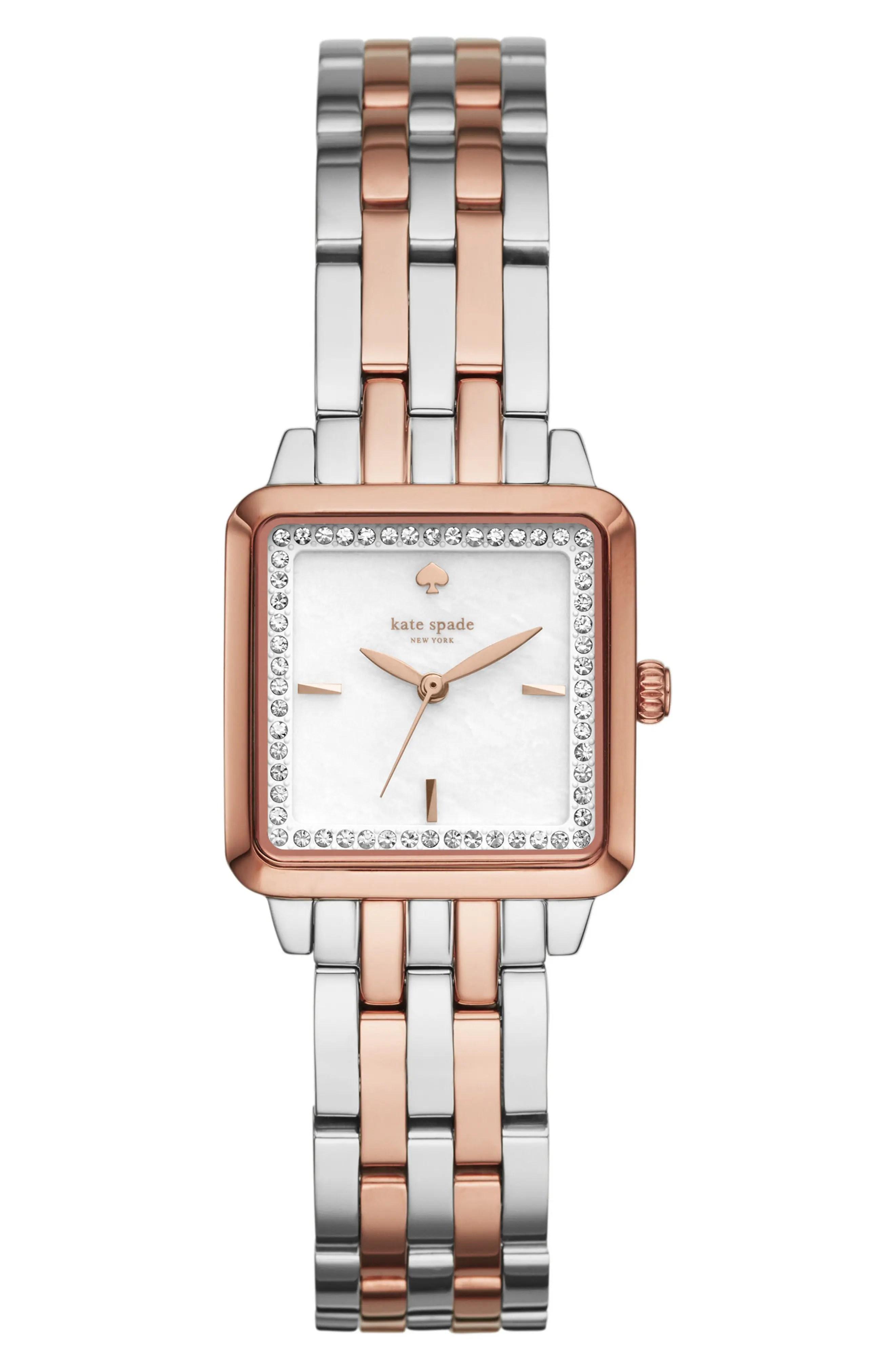 Main Image - kate spade new york washington square bracelet watch, 25mm