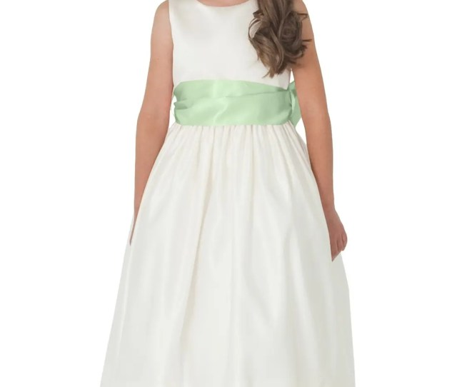 Us Angels Sleeveless Satin Dress With Contrast Sash Toddler Girls Little Girls Big