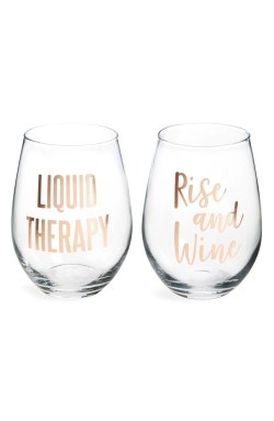 Main Image - Slant Collections Set of 2 Stemless Wine Glasses