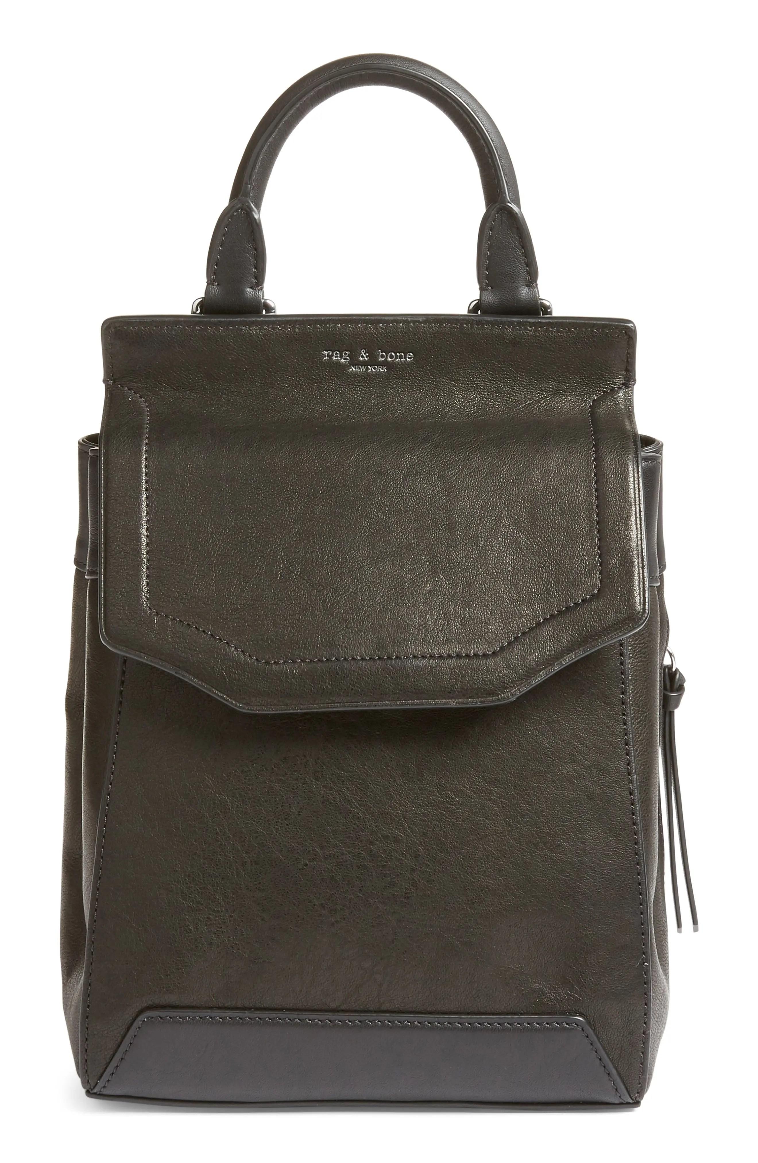 Main Image - rag & bone Small Pilot II Leather Backpack