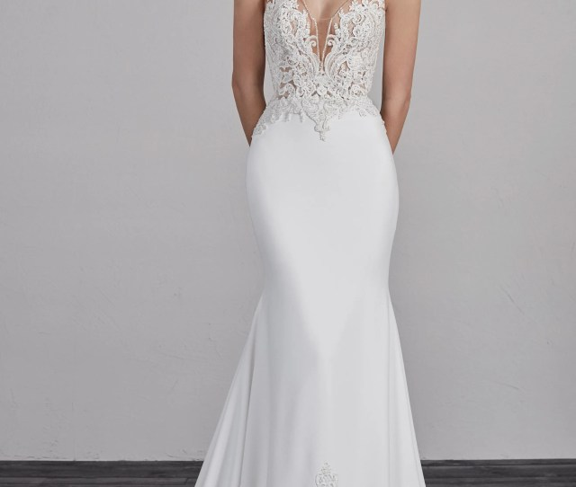 8e9624c91b34 Mermaid Trumpet V Neck Court Train Lace Knit Made To Measure Wedding ...