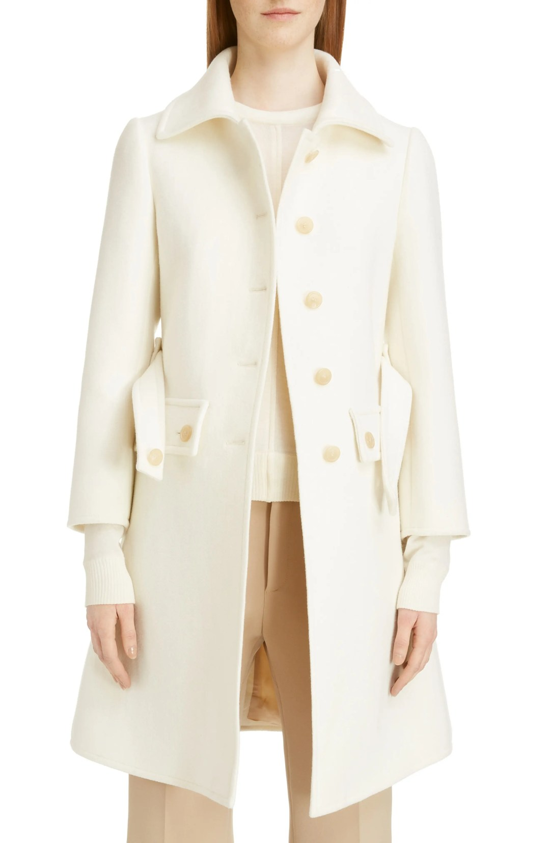 1a2f3c1e9ba Chloé Belted Wool Blend Coat