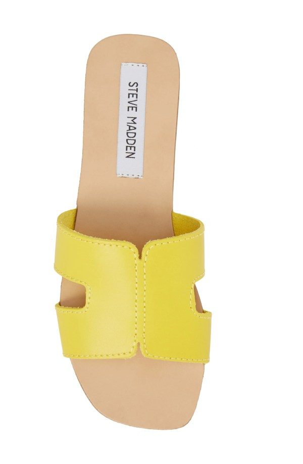 Sayler Slide Sandal, Alternate, color, Yellow Leather
