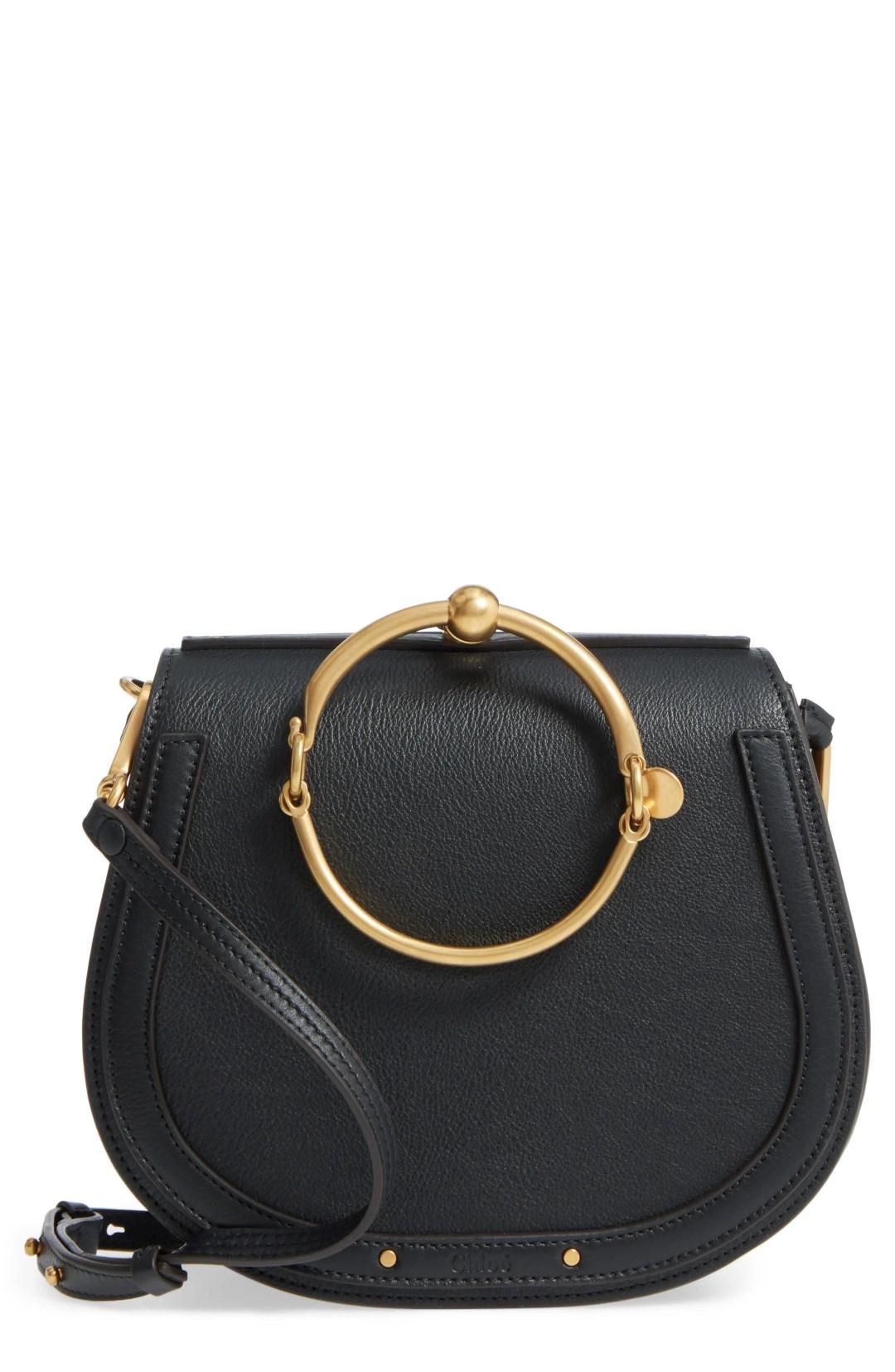 eca4e661ea75d Chloé Medium Nile Leather Bracelet Saddle Bag