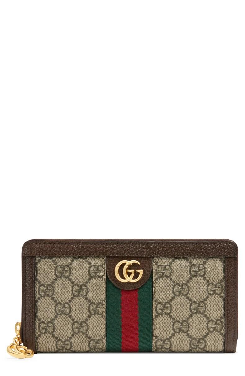 Gucci Ophidia GG Supreme Zip-Around Wallet