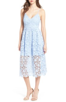 Lace Midi Dress, Main, color, Periwinkle