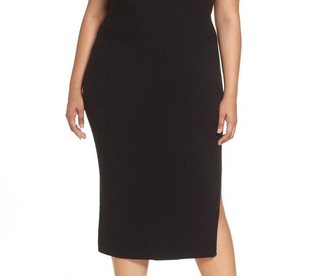 Eliza J Off The Shoulder Midi Sweater Dress Plus Size