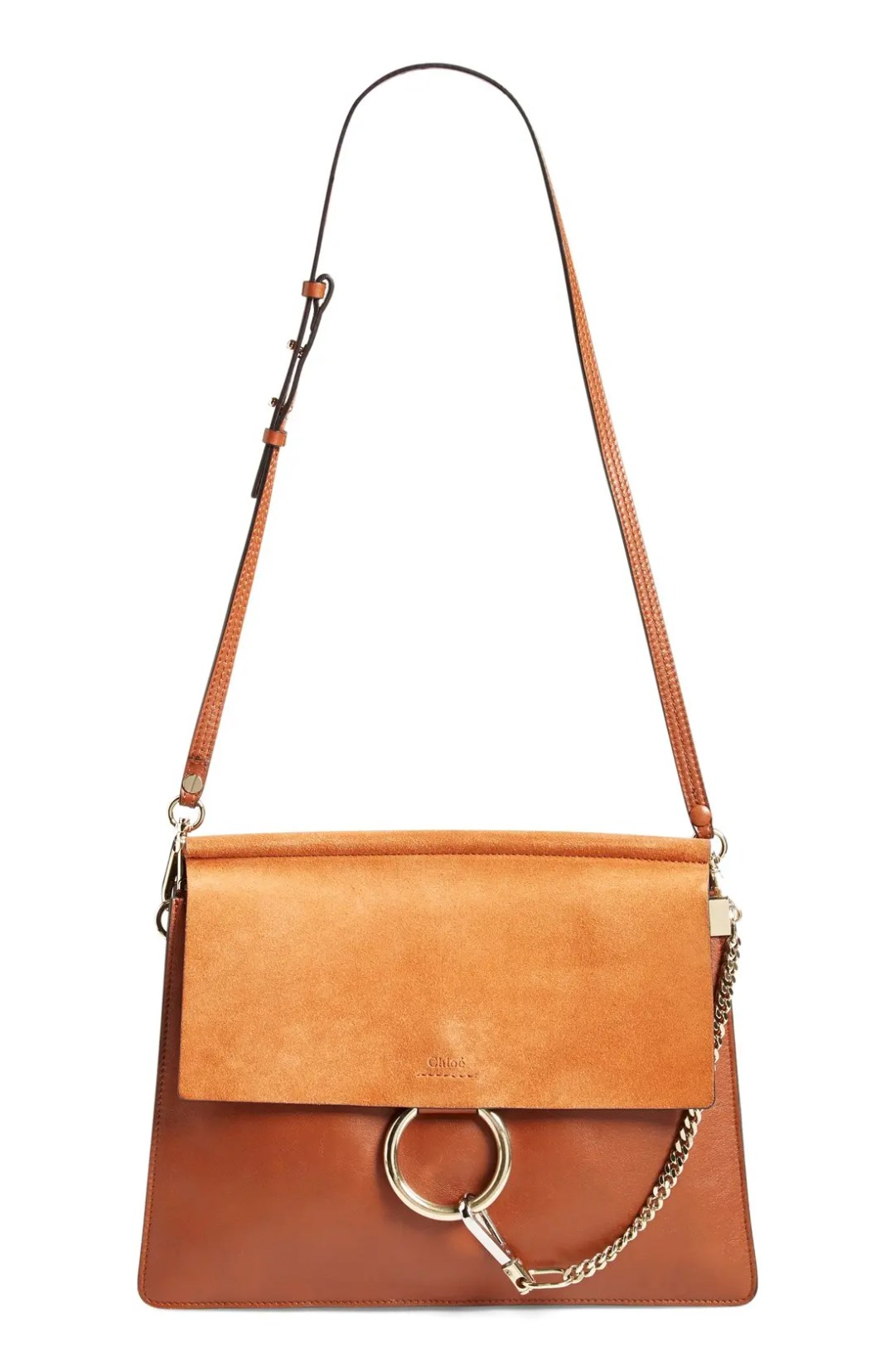 f2c6d37641fb0 Chloé Faye Suede & Leather Shoulder Bag