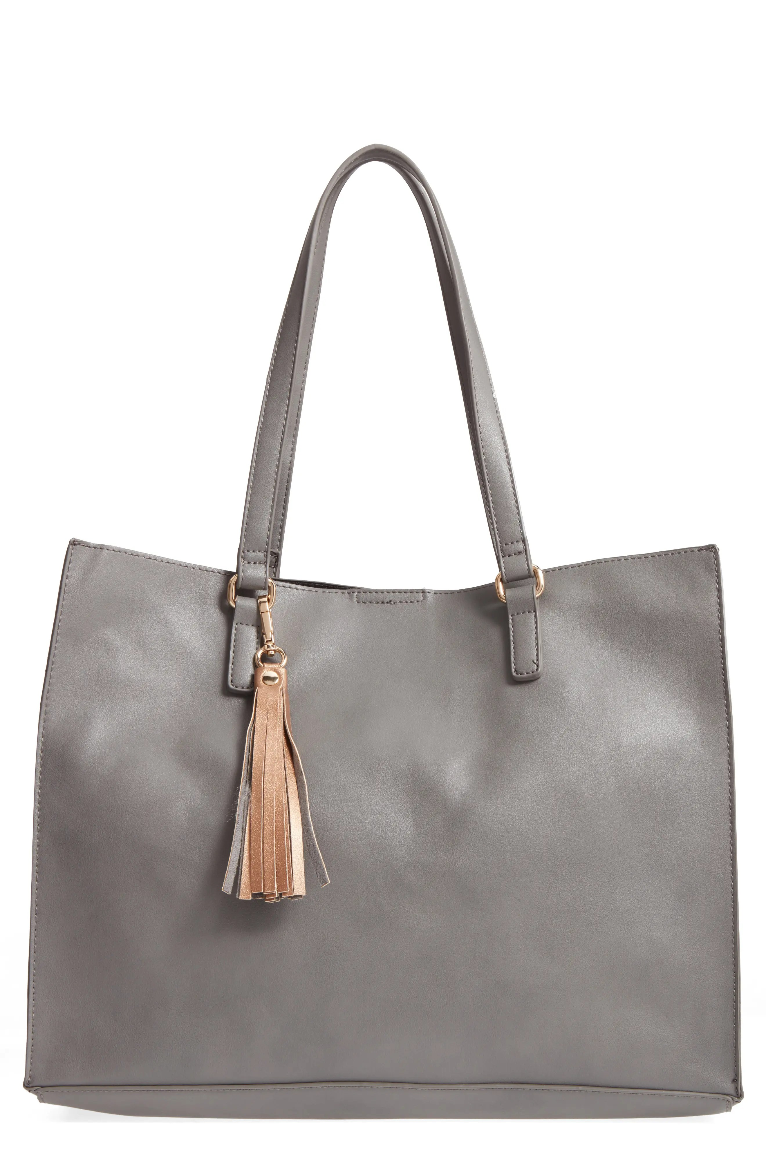 Main Image - BP. Faux Leather Tote & Pouch