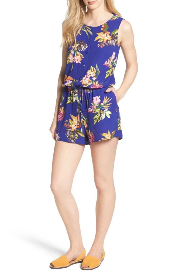 x Hi Sugarplum! Captiva Romper, Main, color, Bright Floral