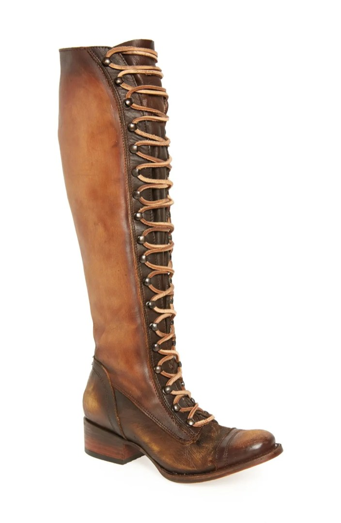 Freebird By Steven Arlo Lace Up Knee High Boot Women
