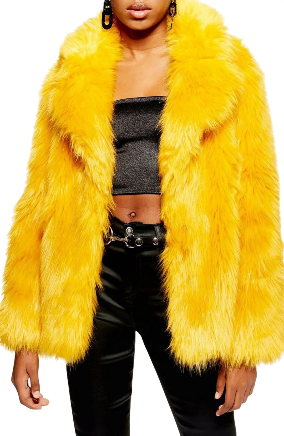 951229afb Women's Topshop Camille Hooded Faux Fur Coat – TOPSHOP AT NORDSTROM –  $150.00