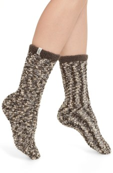 Australia Chenille Crew Socks, Main, color, SEAL