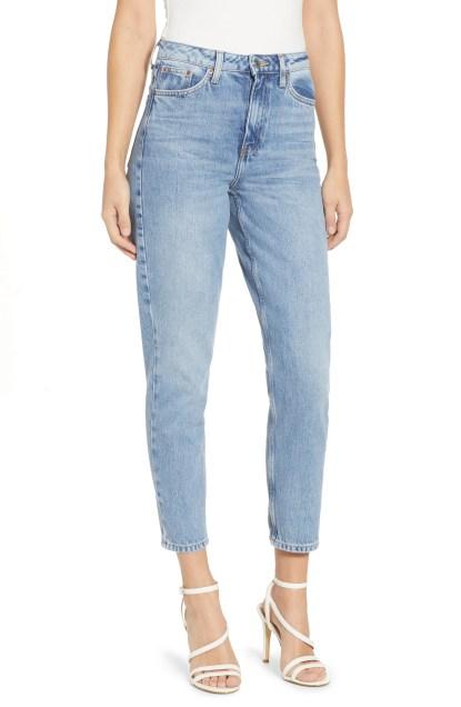 Autumn High Rise Mom Jeans, Main, color, LIGHT BLUE