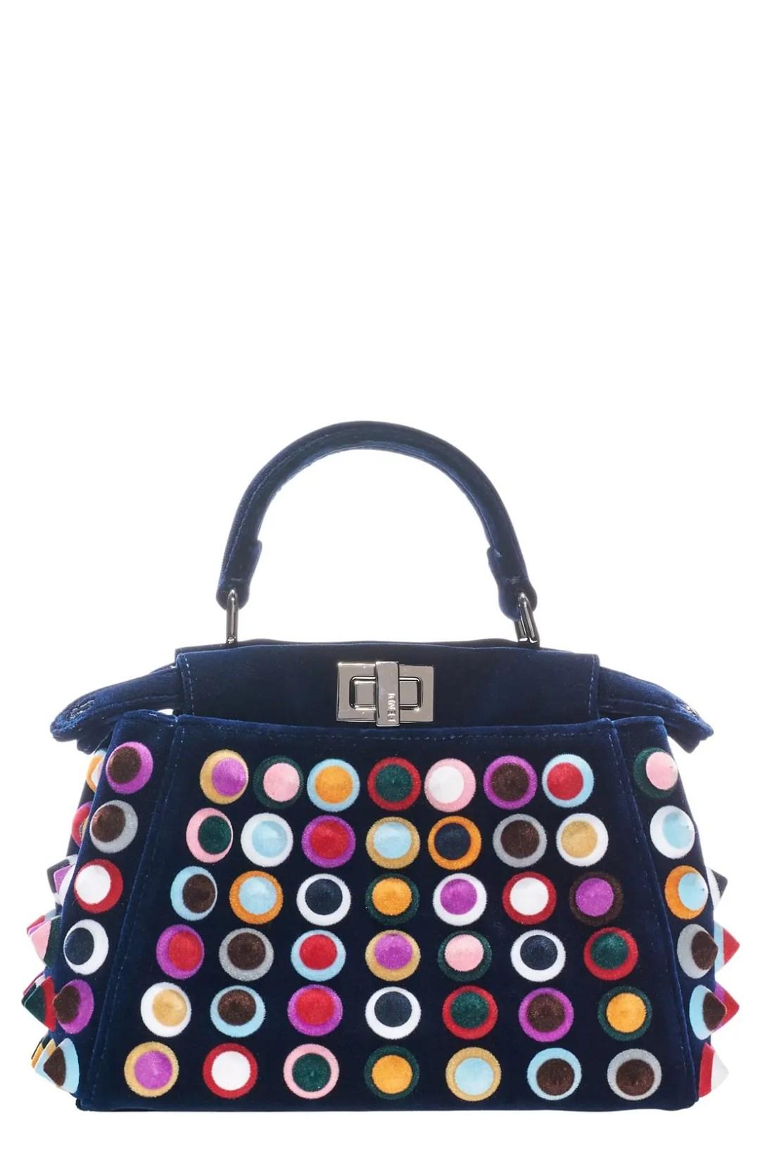 0c6cbd9d5397 Fendi  Mini Peekaboo – Multistuds  Velvet Bag – Blue – NORDSTROM.com –   5