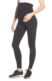 ZELLA Mamasana Live In Maternity Ankle Leggings, Main, color, 001