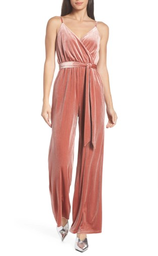 Love Child Velvet Jumpsuit, Main, color, BLUSH