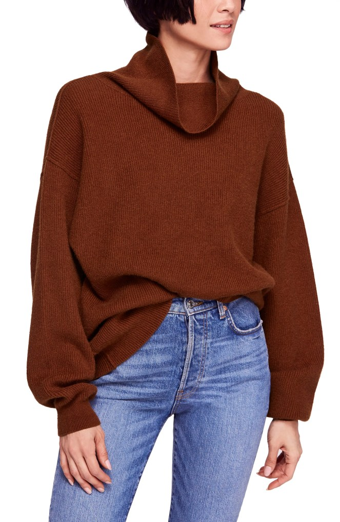 Softly Structured Knit Tunic,                         Main,                         color, TERRACOTTA
