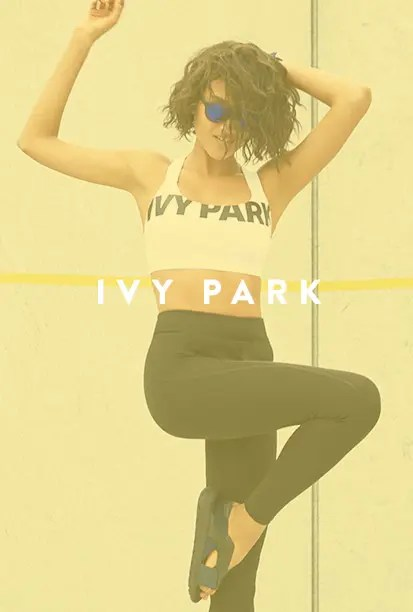 IVY PARK workout and activewear for women.