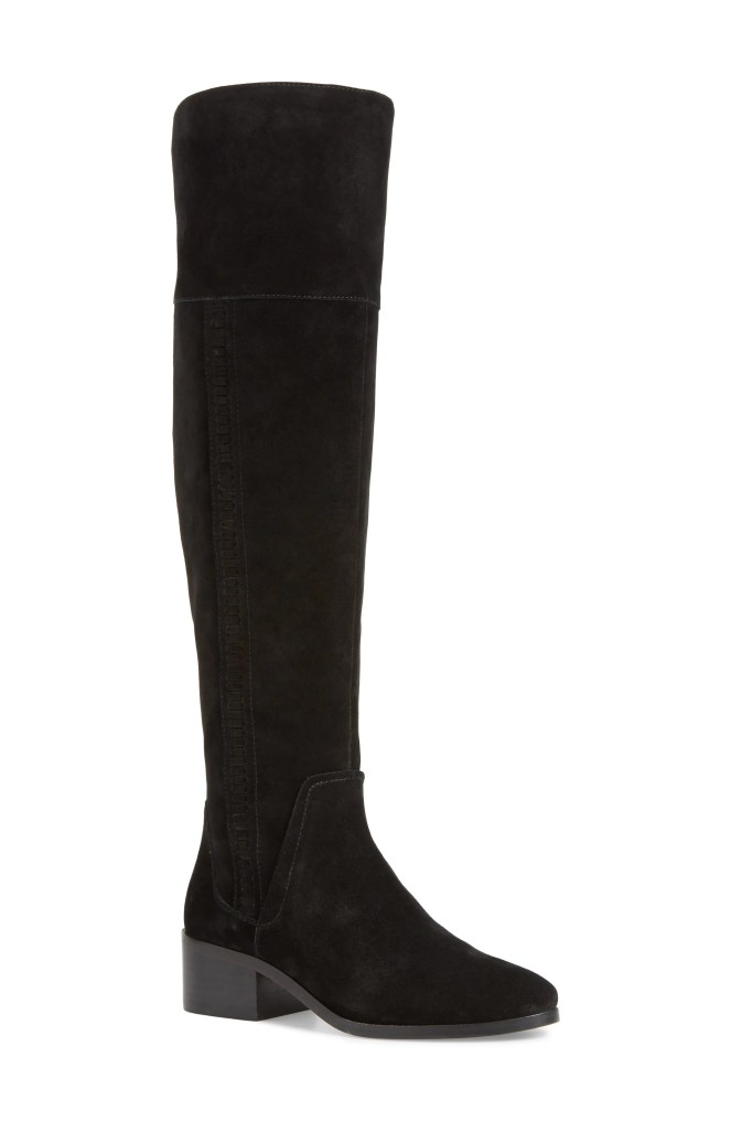 Kochelda Over the Knee Boot,                         Main,                         color, BLACK SUEDE
