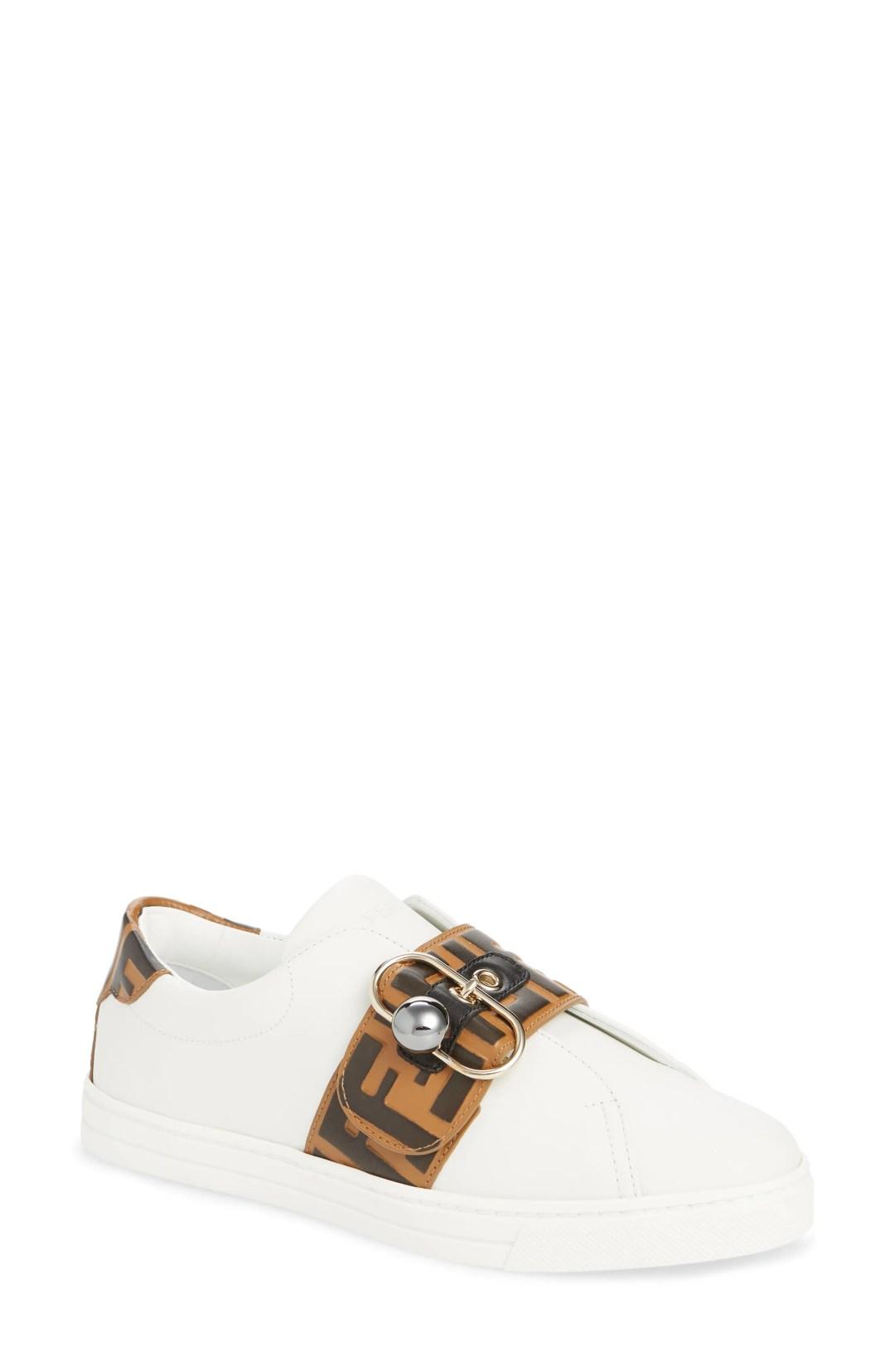 3728ac6b0 Women's Fendi Pearland Logo Slip-On Sneaker, Size 7.5US / 38EU – White –  NORDSTROM.com – $690.00