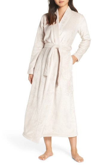 Marlow Double-Face Fleece Robe, Main, color, MOONBEAM