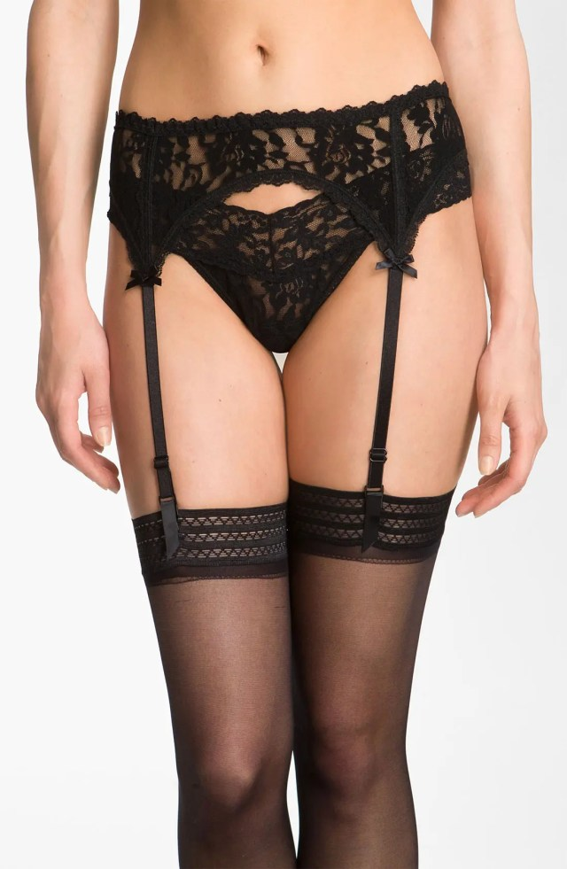 Hanky Panky Lace Garter Belt Main Color Black