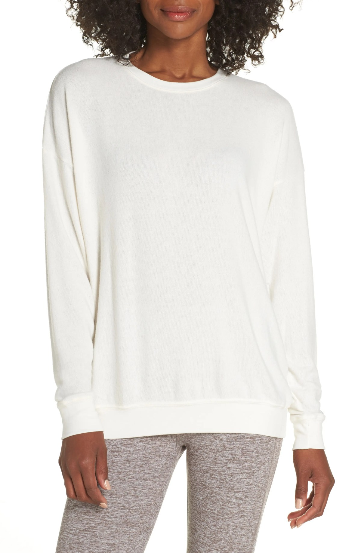 ALO Soho Pullover, Main, color, PRISTINE HEATHER