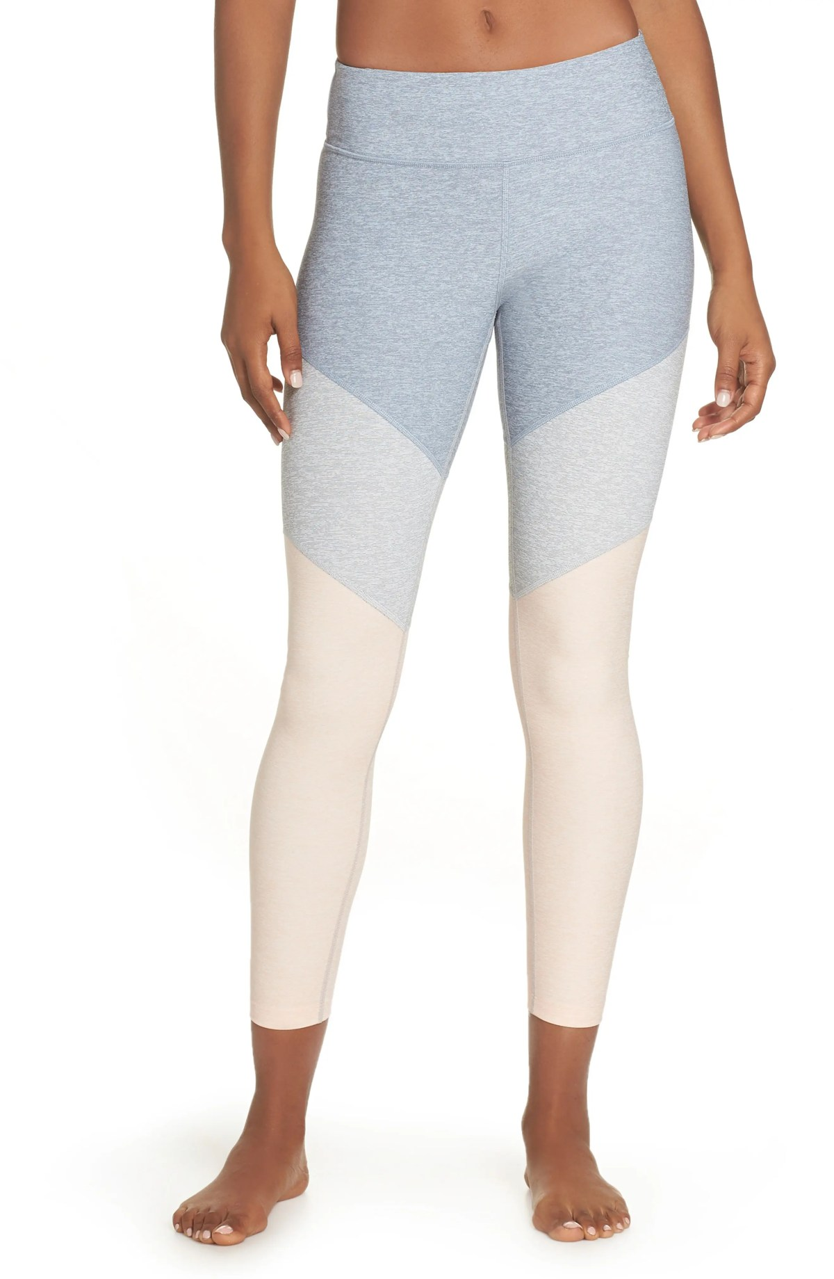 OUTDOOR VOICES 7/8 Springs Leggings, Main, color, LAKE/ DOVE/ ROSE QUARTZ