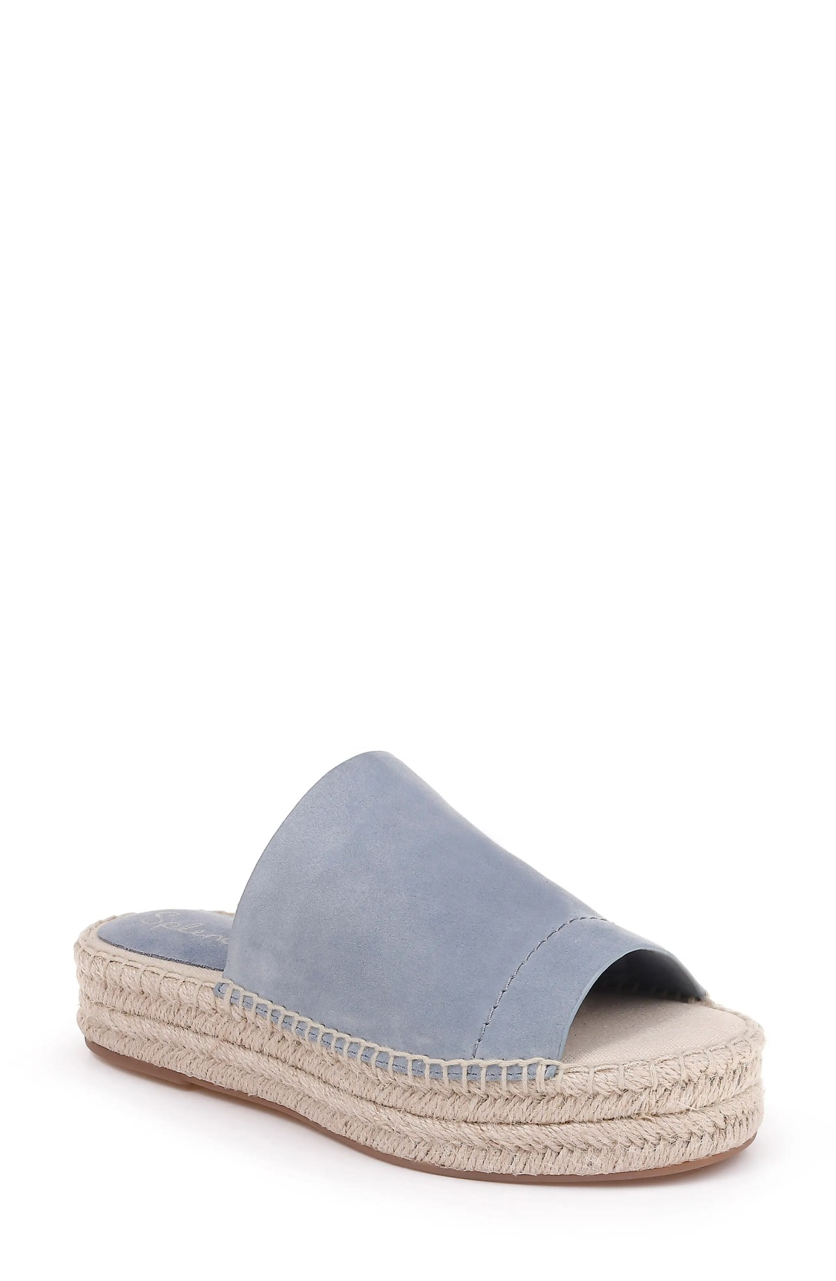 SPLENDID Thaddeus Espadrille Slide Sandal, Main, color, LIGHT BLUE SUEDE