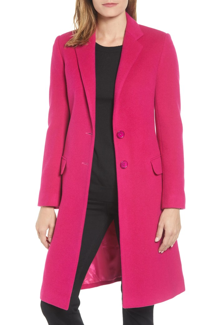 Charles Gray London College Coat, Main, color, FUCHSIA