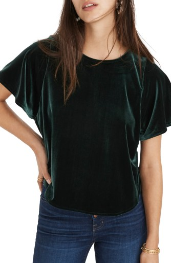 Velvet Butterfly Top, Main, color, SMOKY SPRUCE