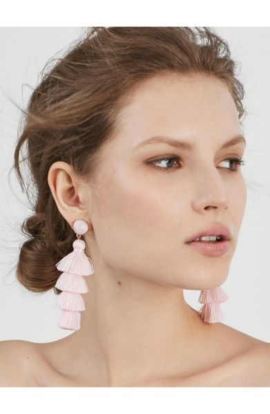 Gabriela Tassel Fringe Earrings,                         Alternate,                         color, LIGHT PINK