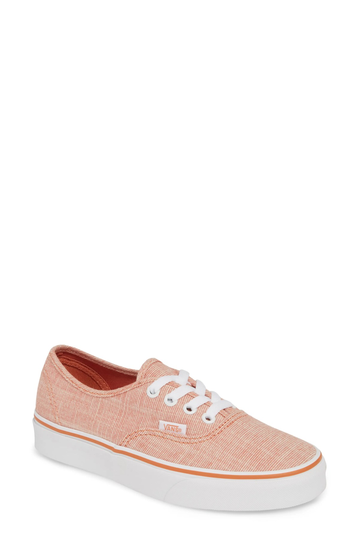 VANS 'Authentic' Sneaker, Main, color, CHAMBRAY CARNELIAN/ TRUE WHITE
