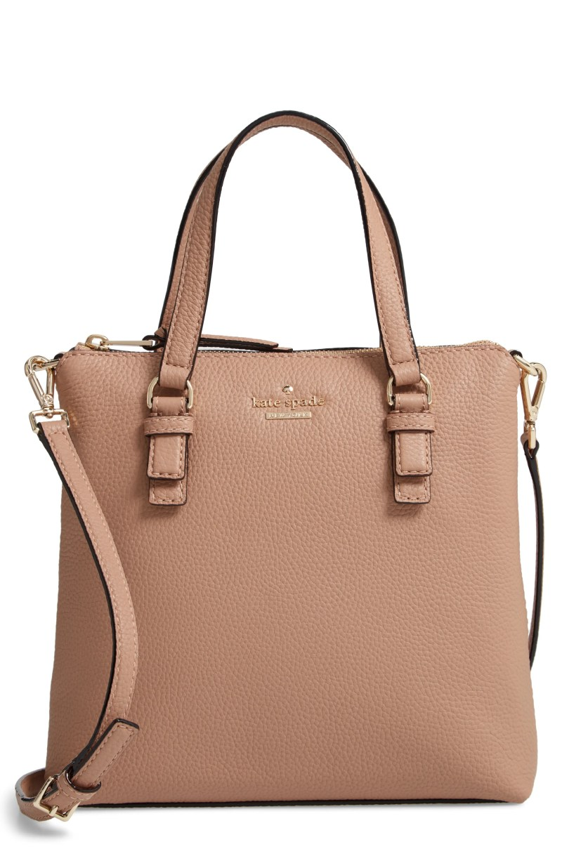 jackson street - hayley leather satchel, Main, color, HAZEL