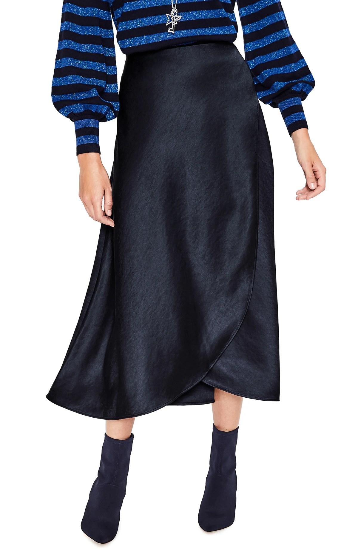 Epsom Midi Skirt,                         Main,                         color, NAVY
