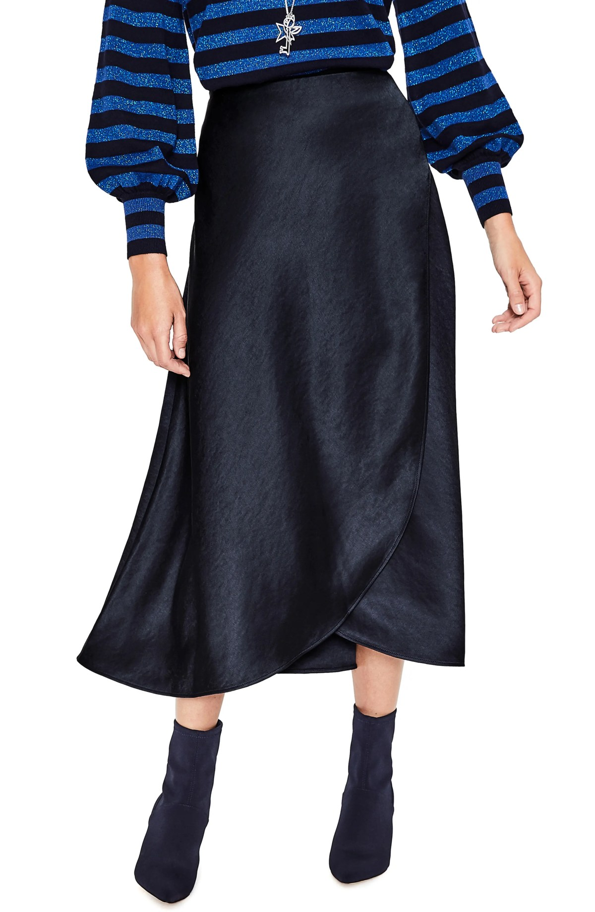 Epsom Midi Skirt,                         Main,                         color, NAVY