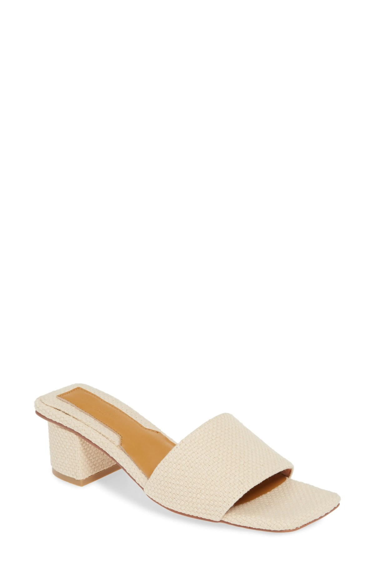 JAGGAR Meadow Woven Slide Sandal, Main, color, NATURAL FABRIC