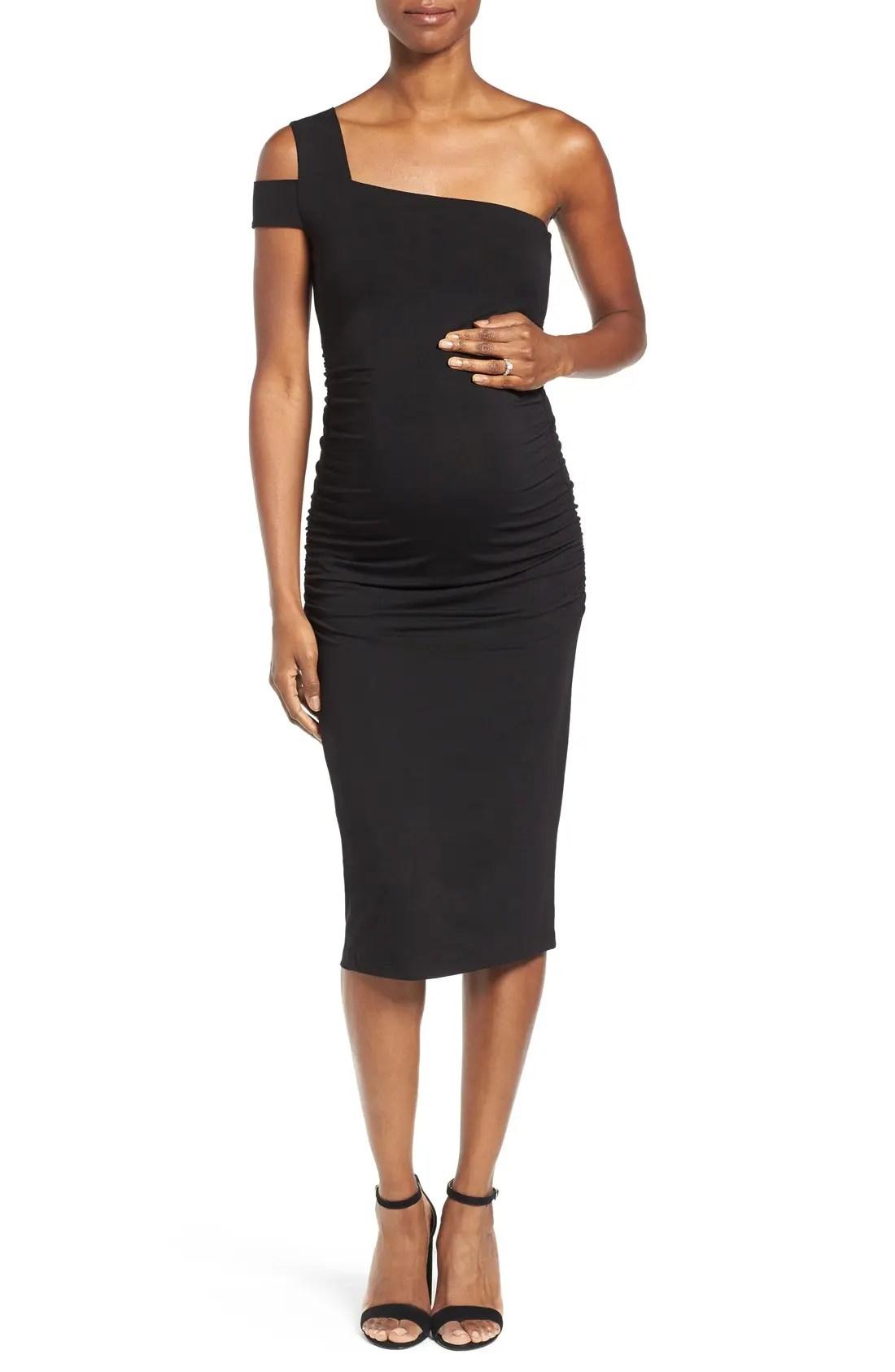 ISABELLA OLIVER Brunswick Maternity Dress, Main, color, CAVIAR BLACK