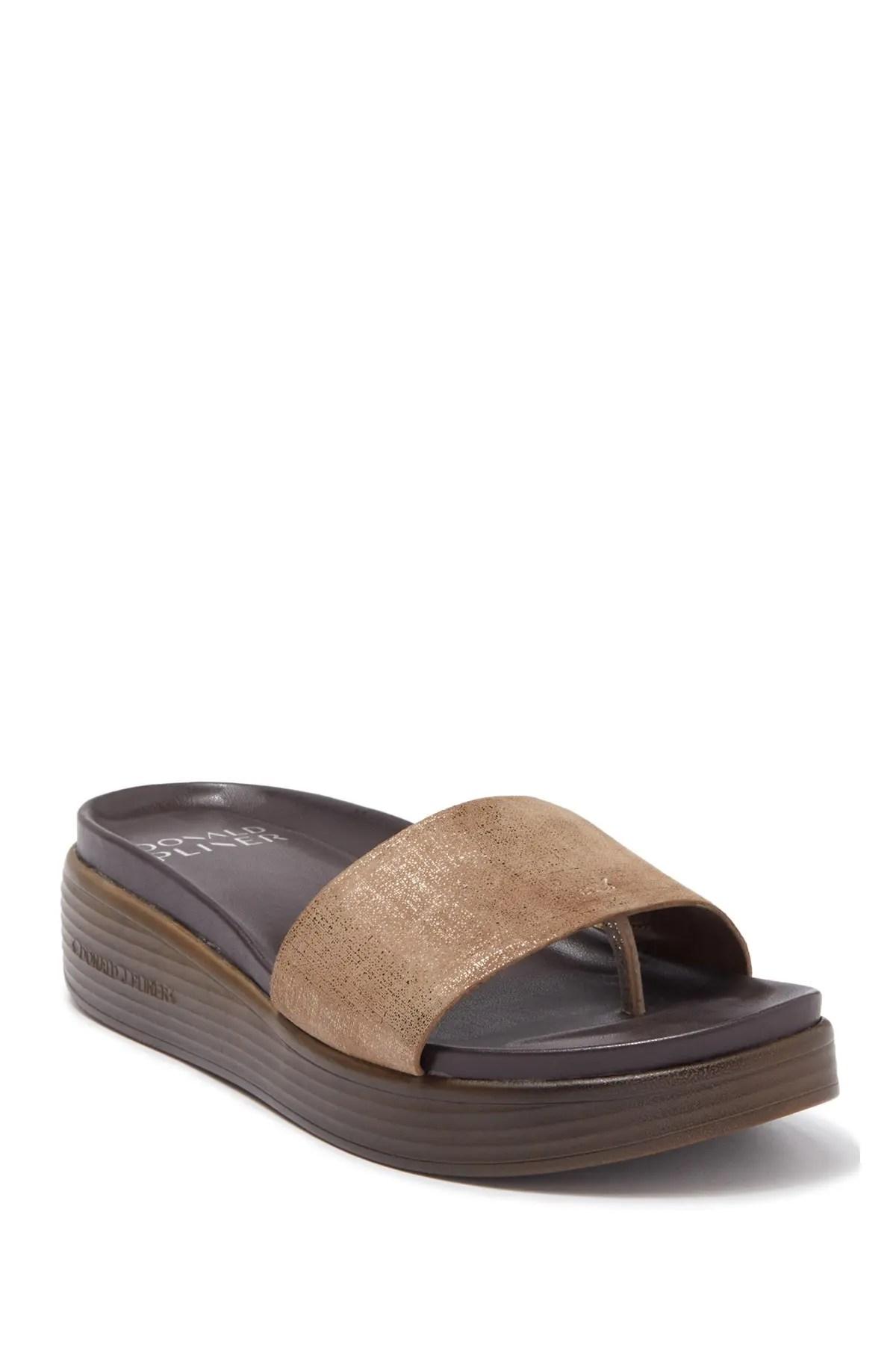 fiji suede slide sandal