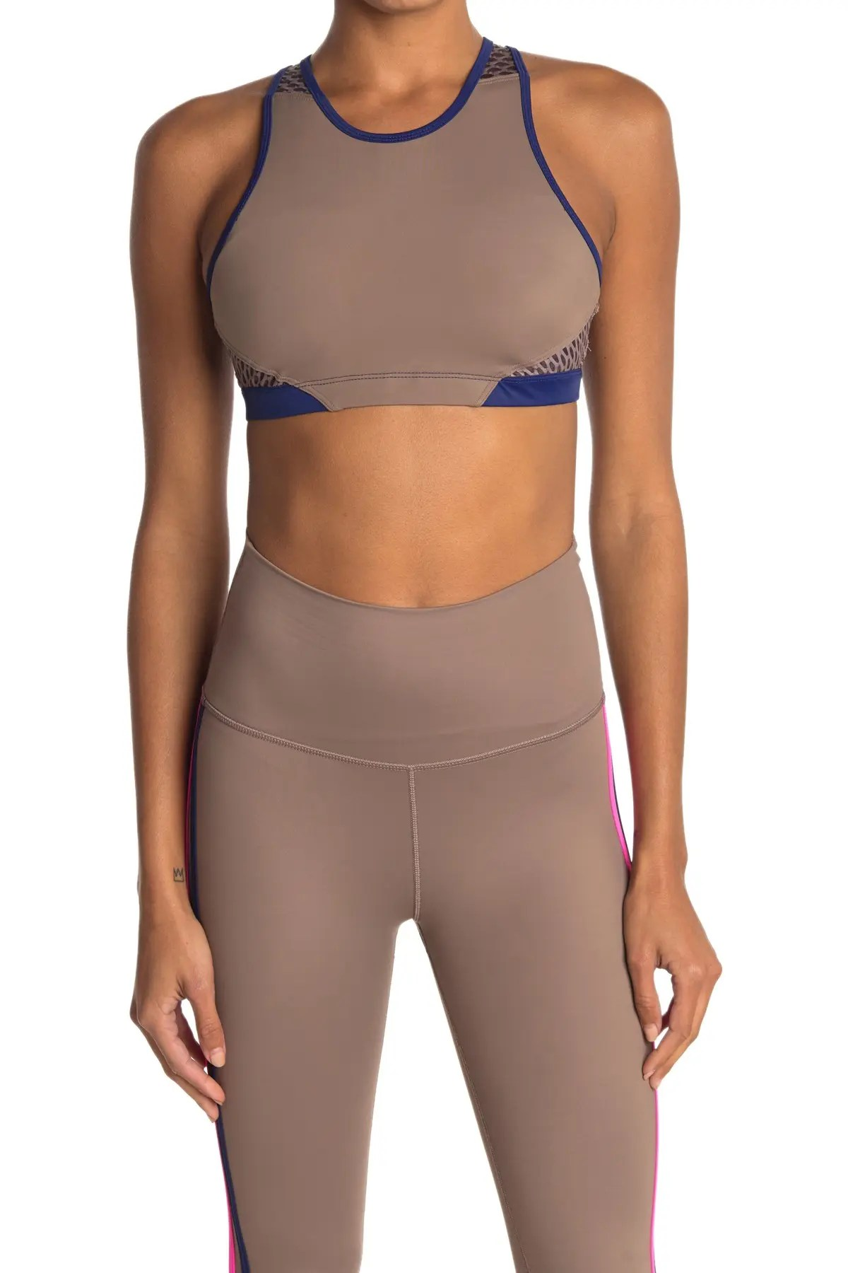 wear it to heart contrast trim high neck sports bra nordstrom rack