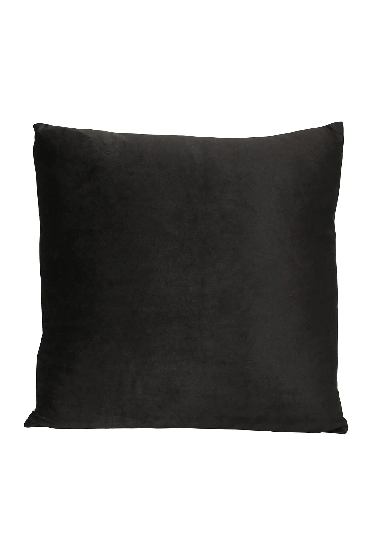 black velvet 18 square pillow
