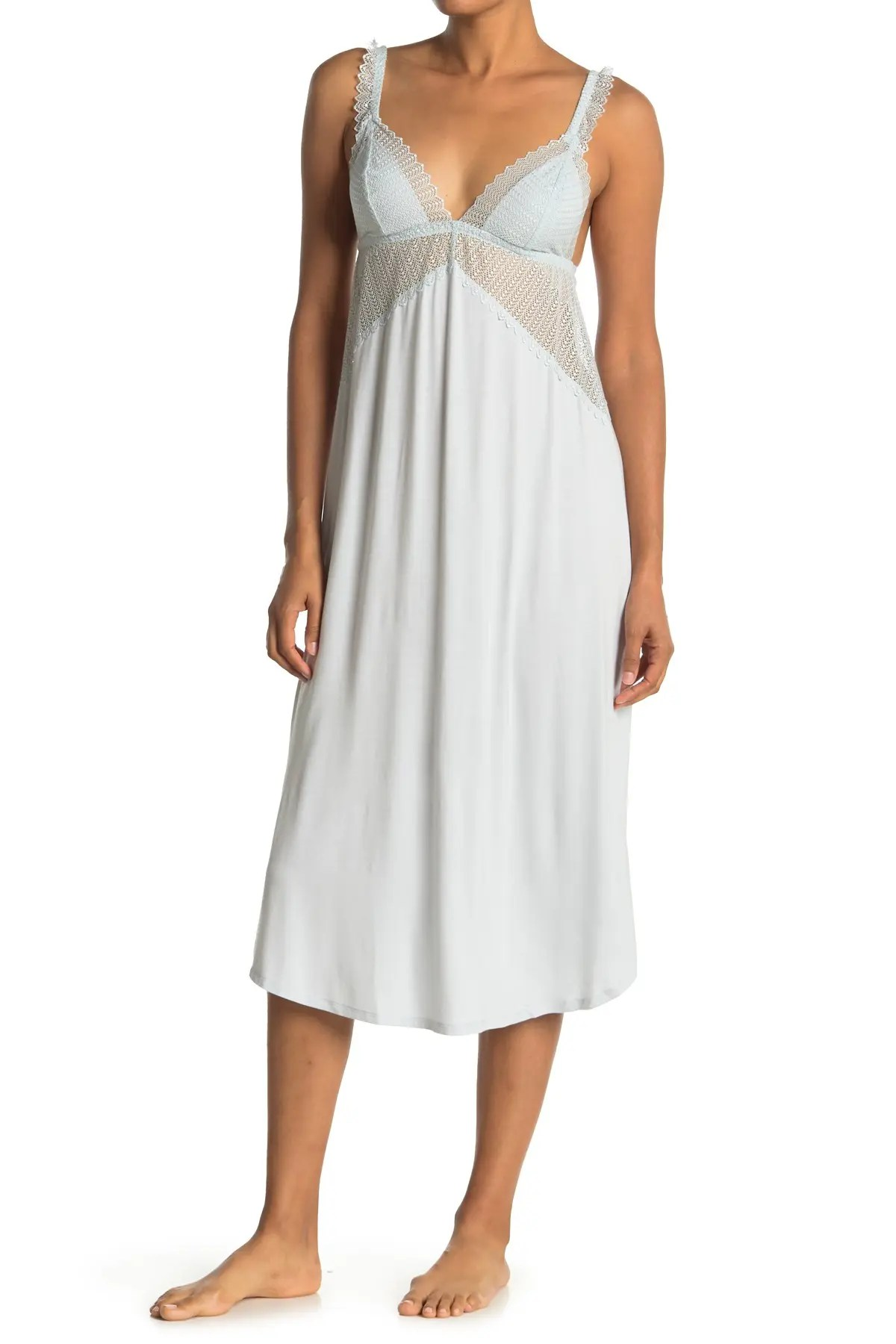 eberjey phoebe luxe lace trim nightgown nordstrom rack