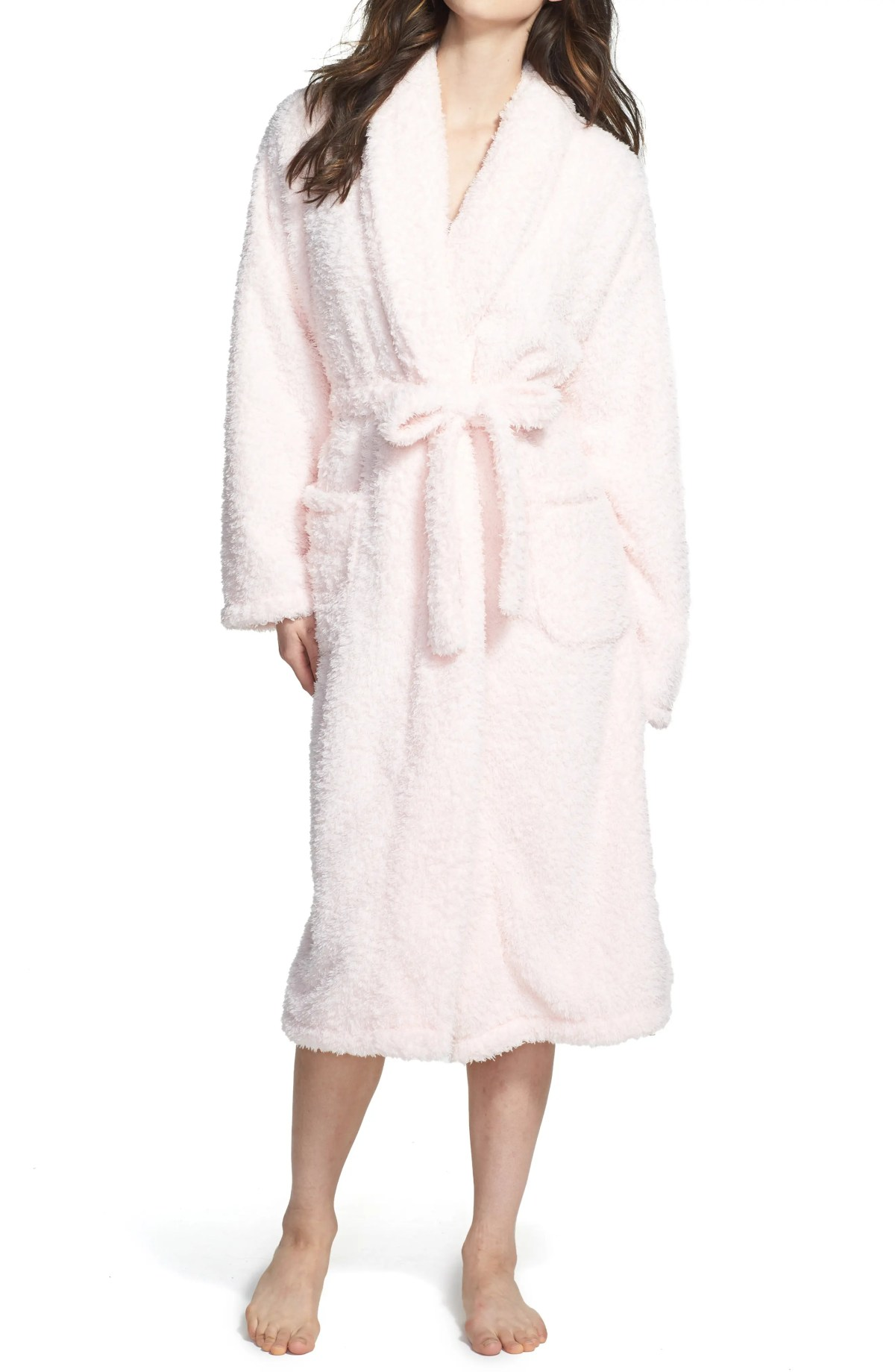 GIRAFFE AT HOME Chenille Robe, Alternate, color, PINK