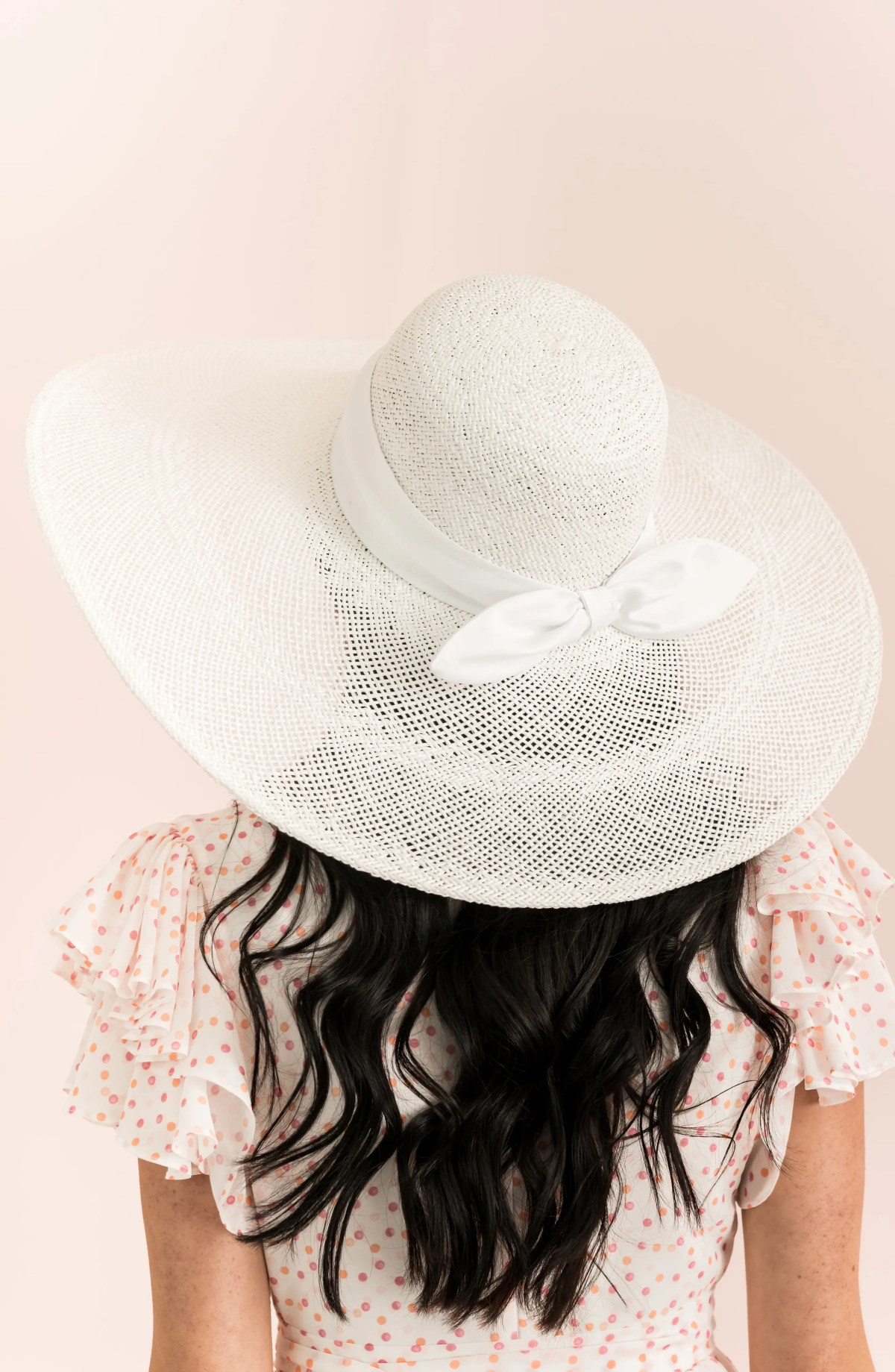 Large Brim Straw Hat, Alternate, color, WHITE COMBO