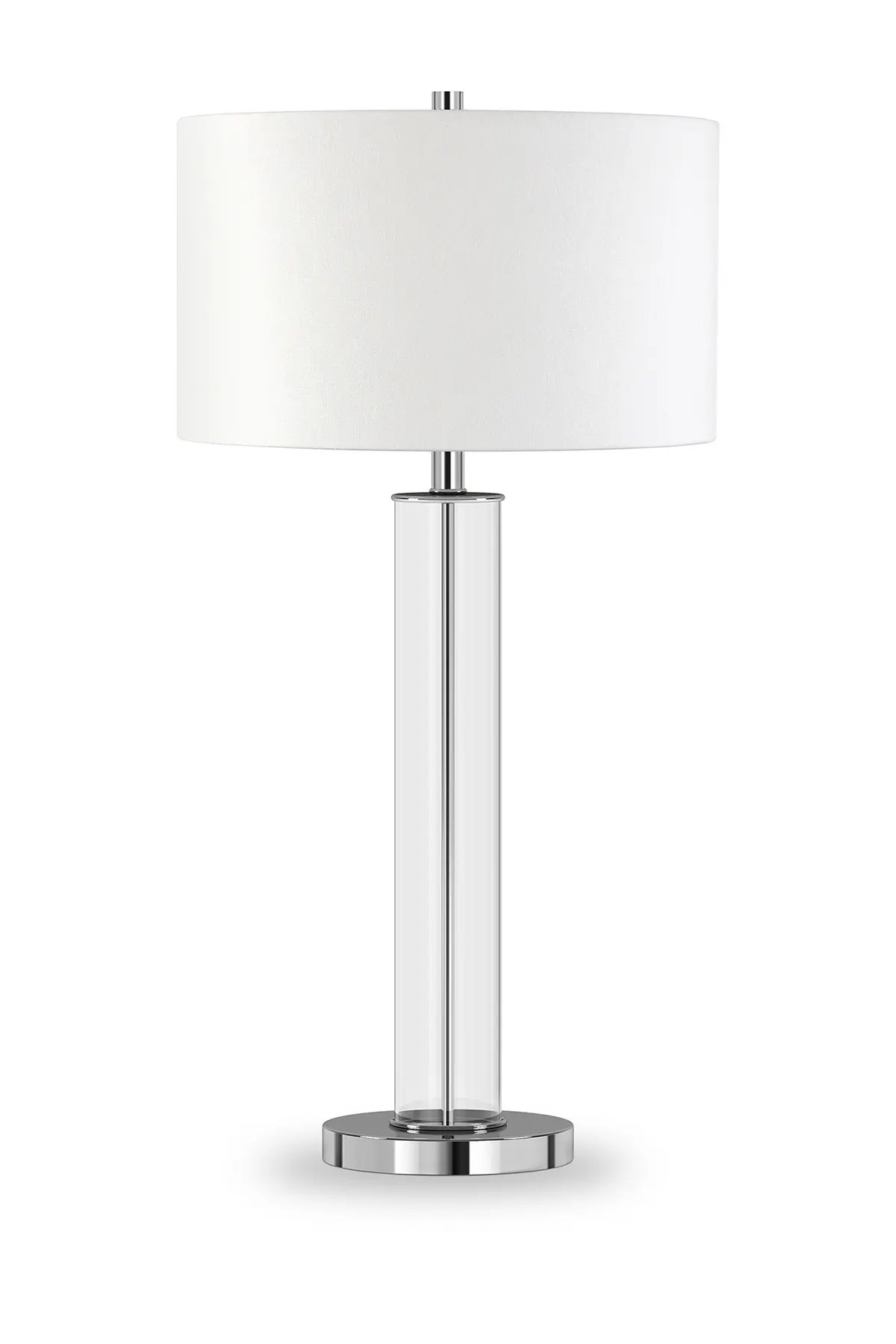 Addison And Lane Harlow Polished Nickel And Clear Glass Table Lamp Nordstrom Rack