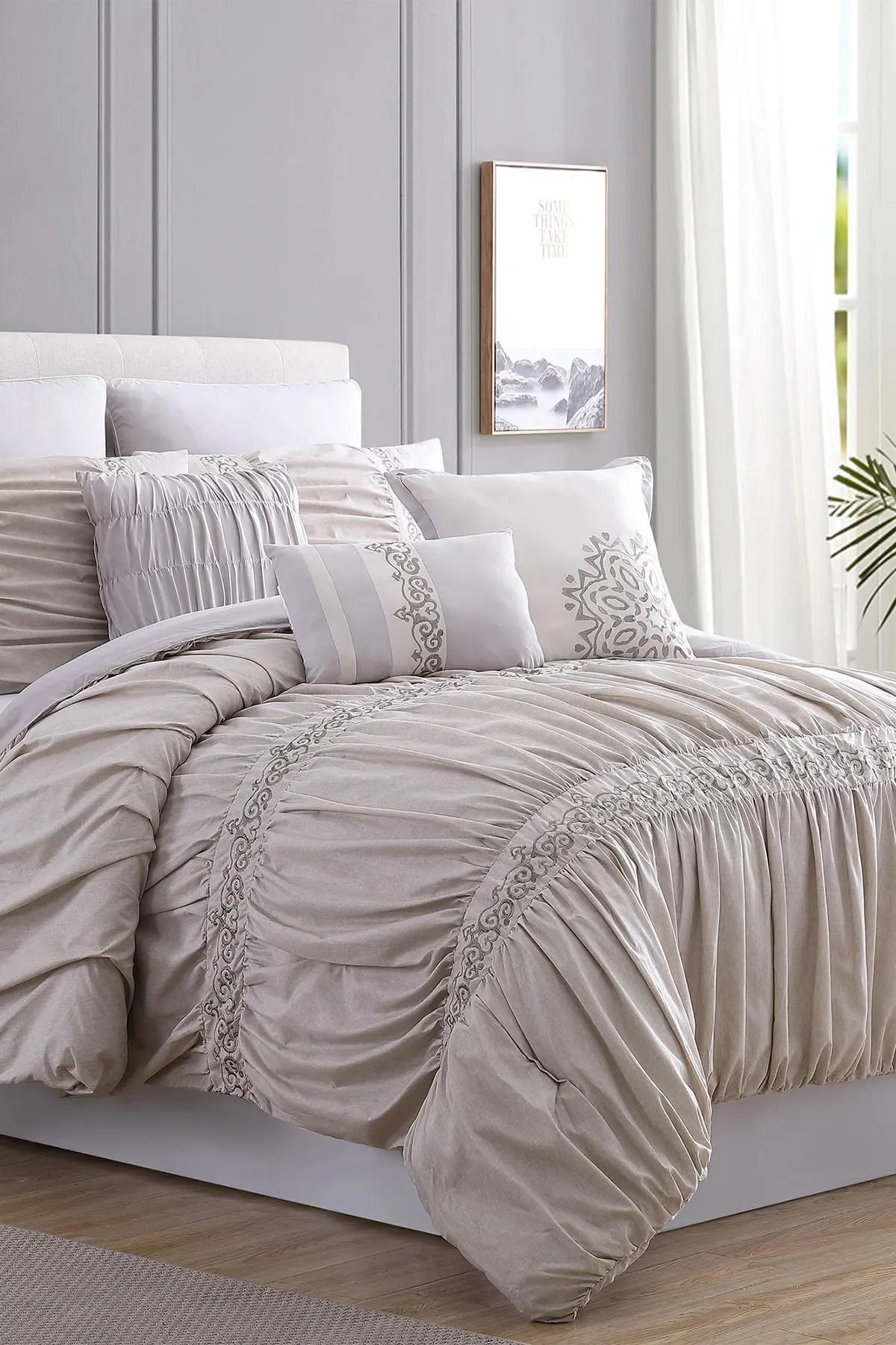 modern threads queen rialto comforter set beige nordstrom rack
