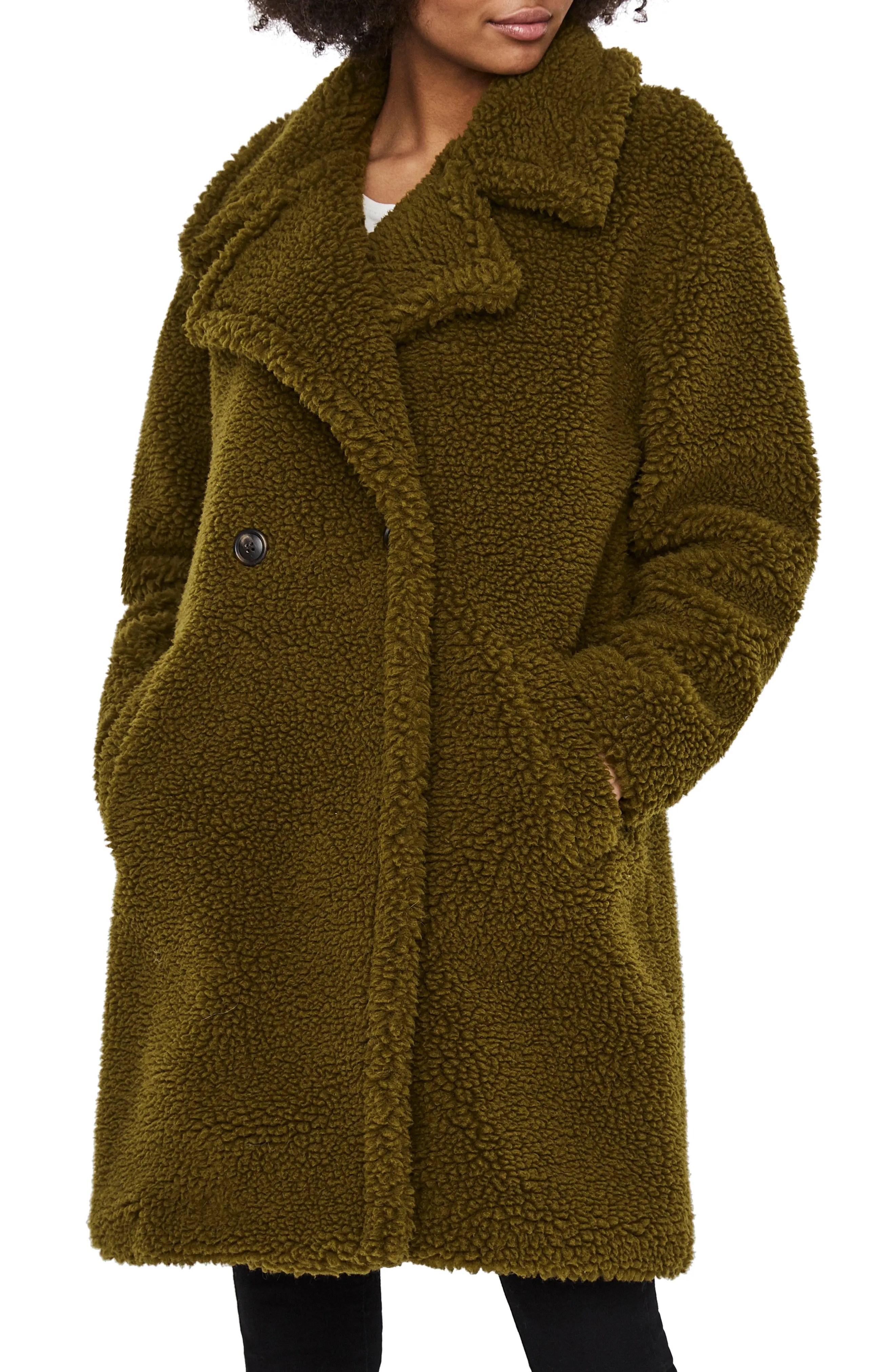 vero moda lynne teddy coat