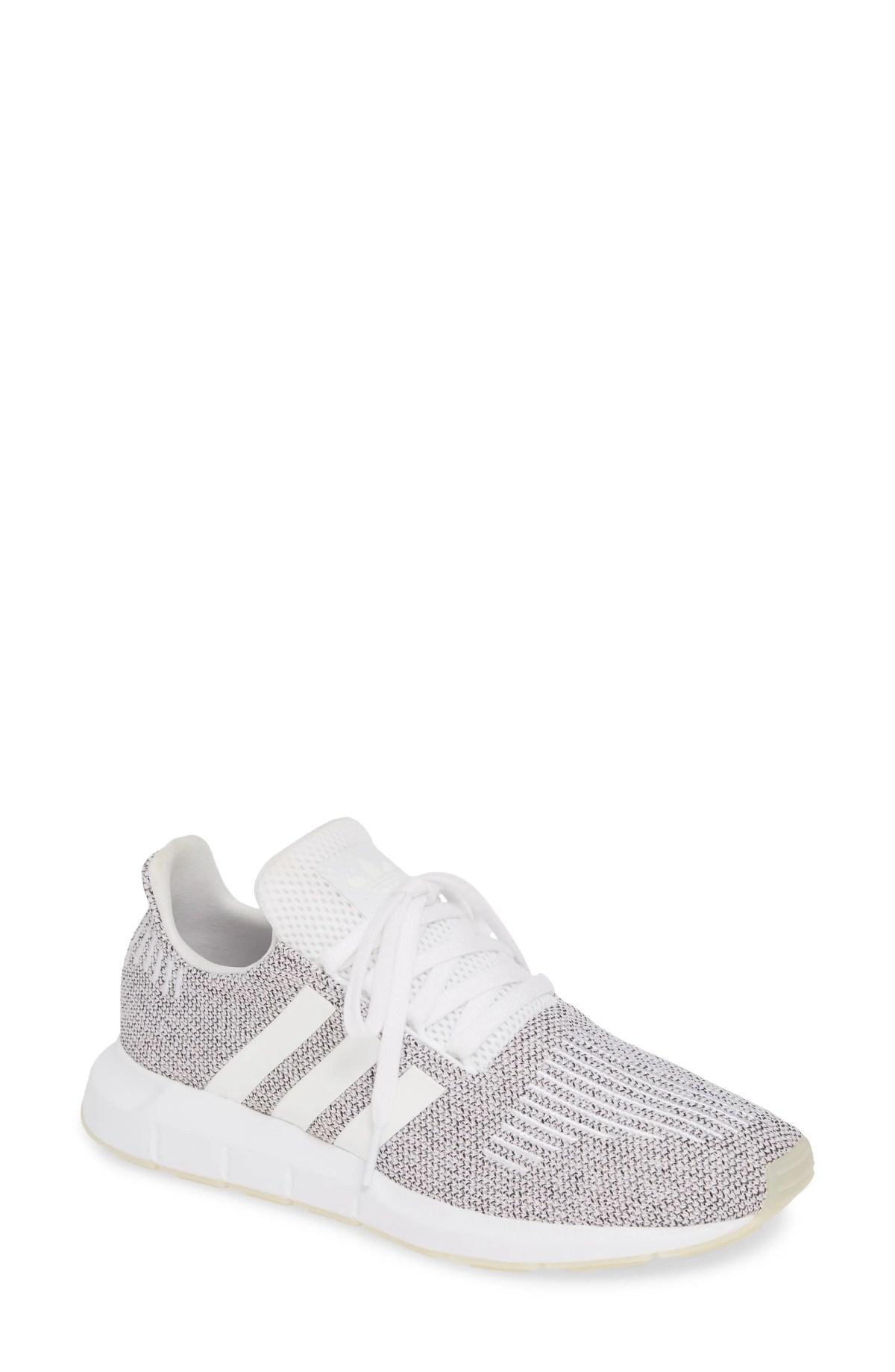 ADIDAS Swift Run Sneaker, Main, color, WHITE/ WHITE/ CORE BLACK