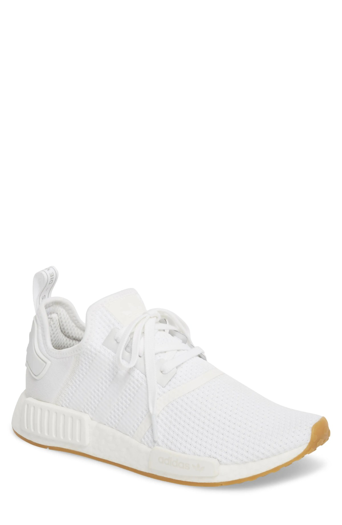 ADIDAS Originals NMD R1 Sneaker, Main, color, WHITE/ WHITE/ GUM